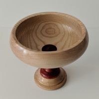 Pedestal Bowl made in 3 different woods  830