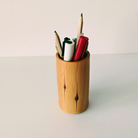 837 Pen,Pencil or Brush Pot made from English Yew
