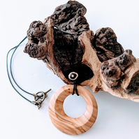 604 Pendant made from Olive Wood