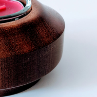 812 Wooden Tea Light Holder made from Sapele