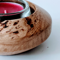 Wooden Tea Light Holder made from Burr Oak 813