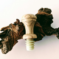 Wooden Bottle Stopper made from Ash 858