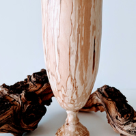 909  Spalted Silver Birch Vase