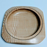 911 Square  Bowl made from Ash