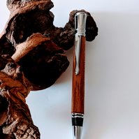 220 Executive Ballpoint Pen made from Sapele Mahogany