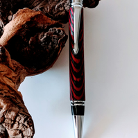 221 Executive Ballpoint Pen made from Nightfire Colour Grain Wood