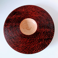 918 Maple Platter with textured red and black rim