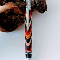224 Executive Ballpoint Pen made from Festival Colour Grain Wood