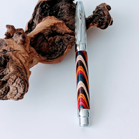 301 Roller Ball Pen made from Festival Colour Grain Wood