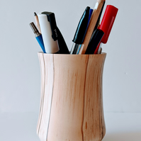 951 Pen & Pencil Pot made from  English Spalted Silver Birch