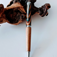 142 Ballpoint Pen made from Southwest Colour Grain Wood and English Oak