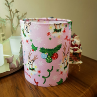 Retro Christmas Fabric Lantern