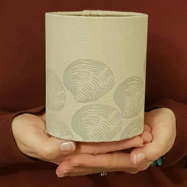 Clam Shell Hand Printed Lantern