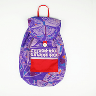 Fun Fabric Backpack; Handmade Kids Rucksack; Gym or Swimming Bag