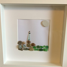 The Lighthouse made from sea glass and pebbles found on Bute