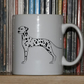 Dalmation mug, 10 OZ mug, vector art, handmade mug