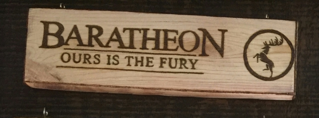 Game of Throne wall sign