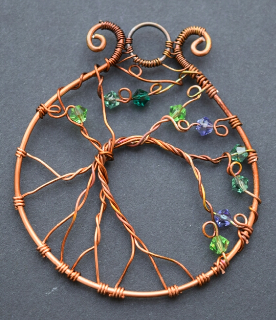 Tree of Life Copper Pendant