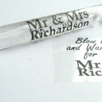48 x PERSONALISED MR & MRS WEDDING BUBBLES TABLE DECORATIONS FAVOURS