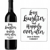 130MM X 100MM PERSONALISED WEDDING WINE BOTTLE LABEL STICKERS TABLES PARTY x 10