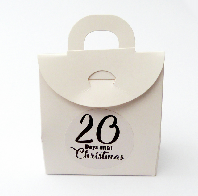 24 x advent calendar box bags diy countdown to Christmas fill yourself