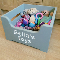 Handmade personalised wooden pet TOY BOXES large choice of colours