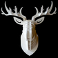 ALL COLORS BIG stag natural Wooden Deer Head Trophy Birch Wood  Wall Art