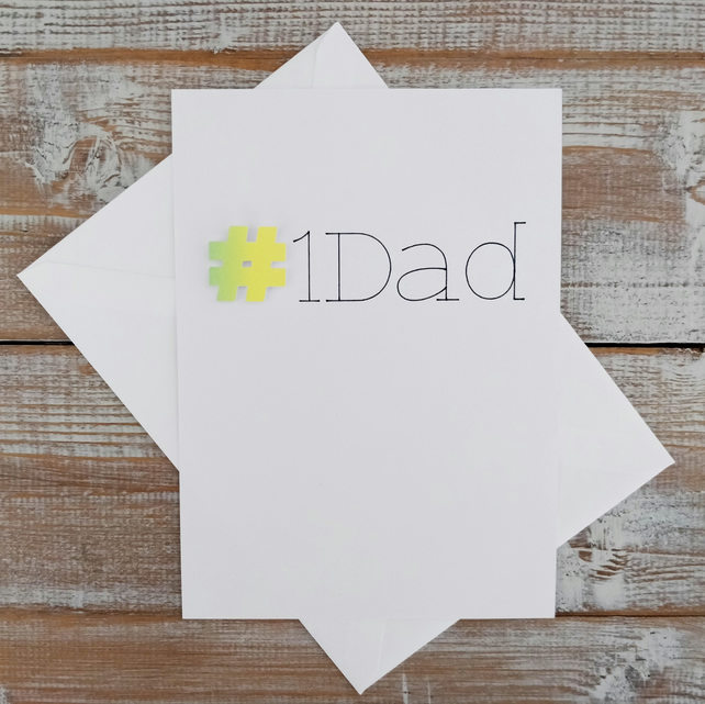 Fathers Day Card - Hashtag - Greetings Card - Dad - Father - Gift ideas