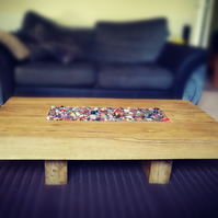 Remote Feature Oak Coffee Table