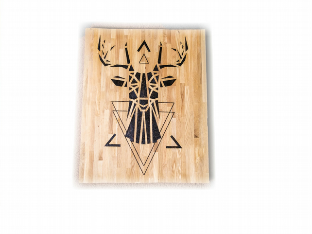Geometric Stag Wall Decor