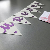 Mr and Mrs paper bunting, weddings, celebrations