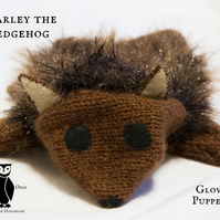 Knitted Hedgehog Glove Puppet - Harley OOGH001