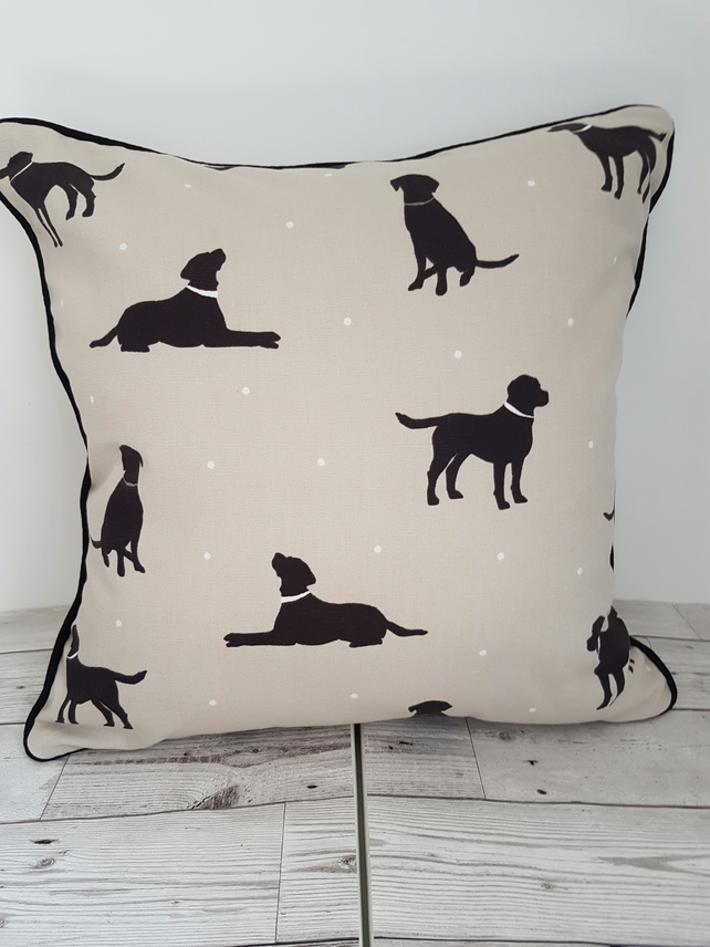 Black Labrador Cushion Cover