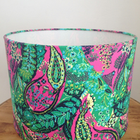 30 cm Handmade Drum Lampshade in Amy Butler Fabric