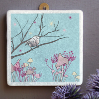 Starry Wren Marble Wall Art