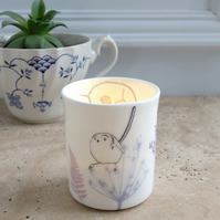 bone china bird tea light holder