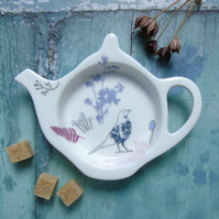 Bone China Teabag Tidy