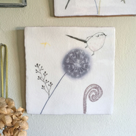 Long tailed-tit Design Ceramic Tile Wall Art