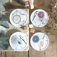Dandelion and Bird Coasters