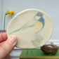 handmade ceramic great tit plaque