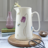 Spring Flowers and Bees Jug