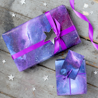 Galaxy gift wrapping paper set
