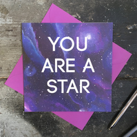You are a Star congratulations card