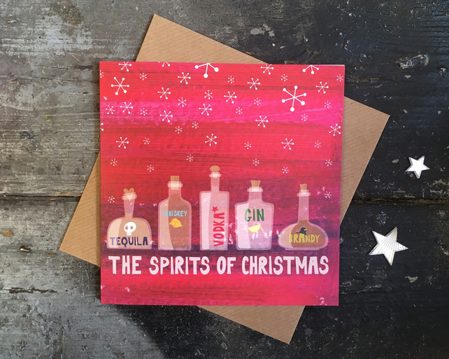 Spirits of Christmas Funny Christmas Card