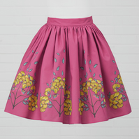 Pink Cotton Skirt - Jasmine (original design)
