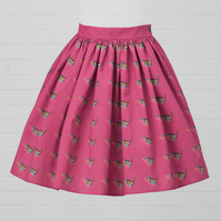 Cerise Cotton Skirt - Robin (original design)