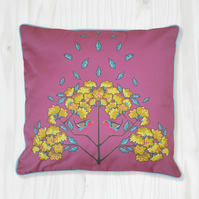 Marsala Pink Pillow Cover - Robin and Jasmine