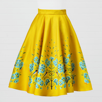 Yellow Heavy Satin Skirt - Swallow and Flax flower
