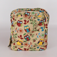 Backpack, rucksack, school bag, college, back to school, owls, free UK p&p