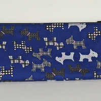 Pencil case, pencil bag, back to school, Scottie dog, free UK p&p
